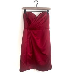 David's Bridal Red/Cherry Bridesmaid Dress